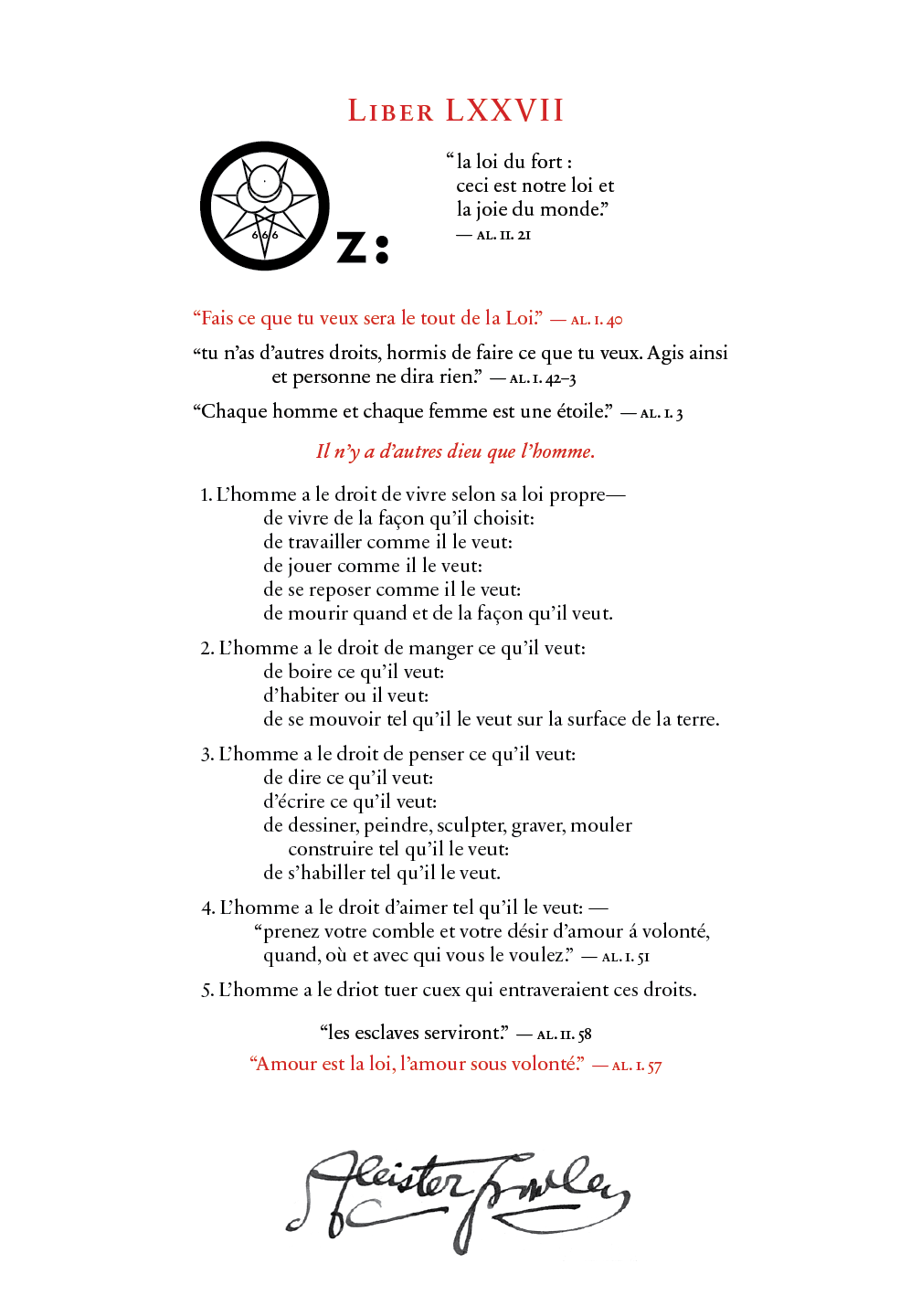 Liber OZ in French
