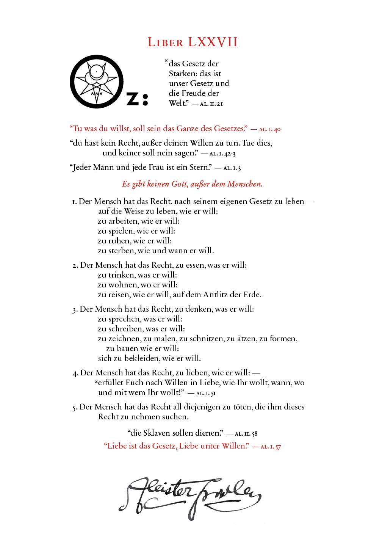 Liber OZ in German
