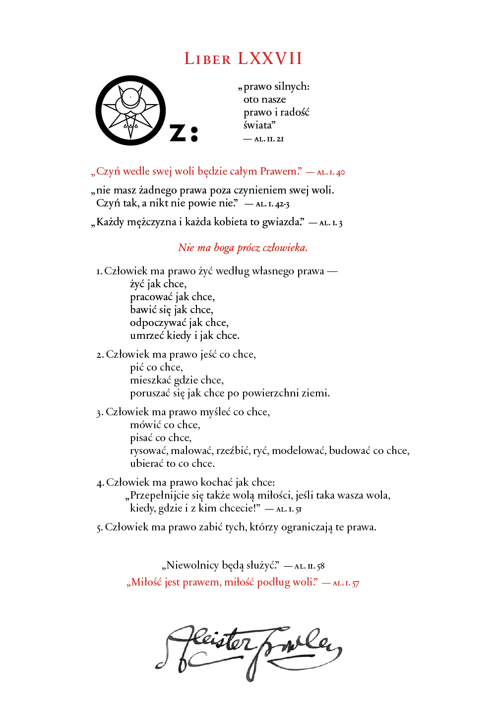 Liber OZ in Polish