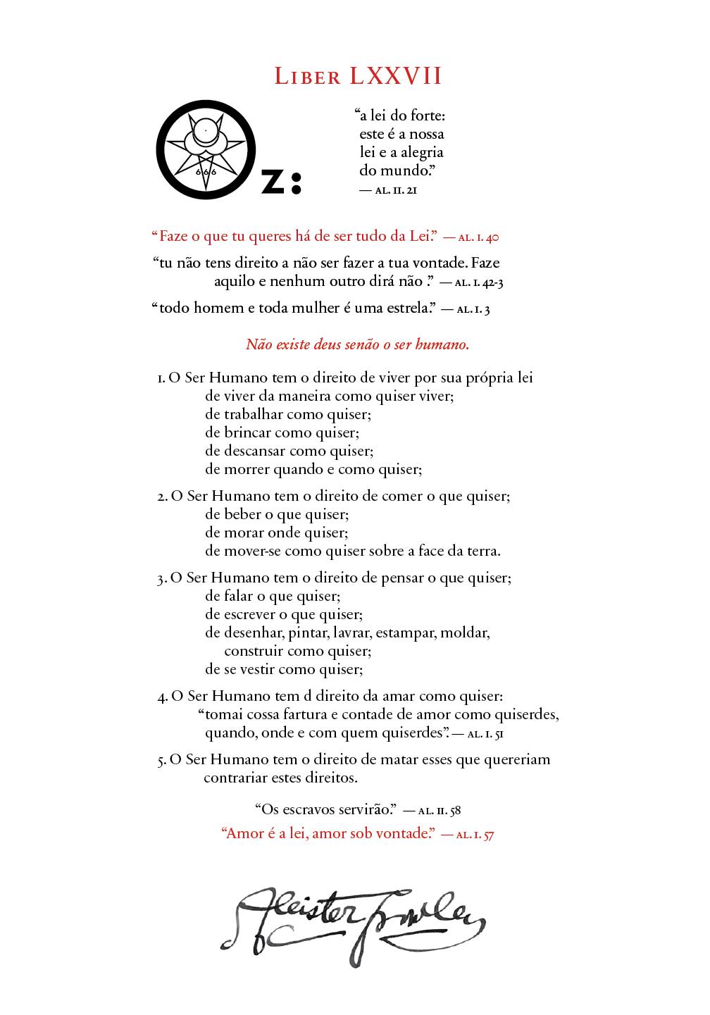 Liber OZ in Portuguese